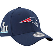 New Era Men's Super Bowl LII Patch New England Patriots 39Thirty Navy Stretch Fit Hat