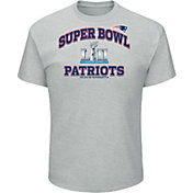 NFL Men's Super Bowl LII Bound New England Patriots Heart and Soul Grey T-Shirt