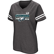 NFL Women's NFC Conference Champions Philadelphia Eagles Delivering Victory Charcoal T-Shirt