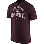 Nike Men's Sacramento Republic FC Wordmark Maroon Tri-Blend T-Shirt