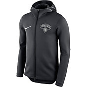 Nike Men's New York Knicks On-Court Black Therma Flex Showtime Full-Zip Hoodie
