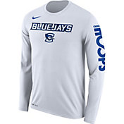 Nike Men's Creighton Bluejays 'Let It Fly' Bench Legend Long Sleeve White T-Shirt
