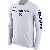 Nike Men's Xavier Musketeers 'All For One' Bench Legend Long Sleeve White T-Shirt