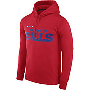 Nike Men's Buffalo Bills Sideline 'Property Of' Therma-FIT Red Logo Hoodie