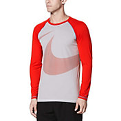 Nike Men's Macro Swoosh Long Sleeve Hydro Rash Guard