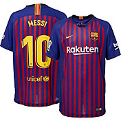 Nike Youth FC Barcelona Lionel Messi #10 2018 Breathe Stadium Home Replica Jersey