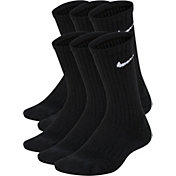 Nike Kids' Performance Cushioned Crew Training Socks 6 Pack