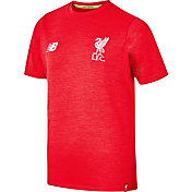 New Balance Youth Liverpool Leisure Red Heathered T-Shirt
