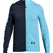 Under Armour Girls' Rival Fleece Full-Zip Hoodie