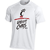 Under Armour Men's Cincinnati Bearcats 'Unleash Chaos' Bench Tech White T-Shirt