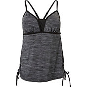 Aqua Tech Women's Heathered Mesh Side Tie Tankini